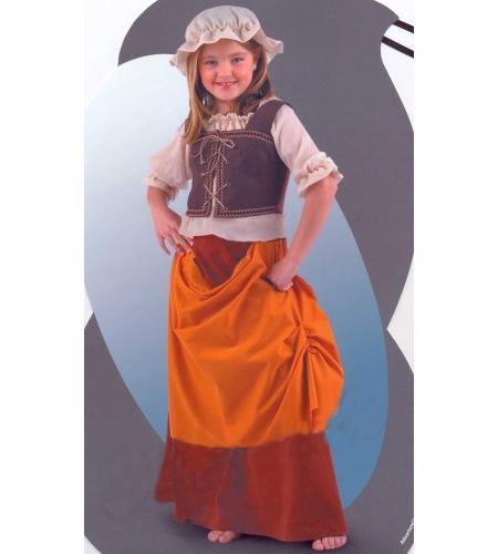 Fato de tabernera medieval infantil