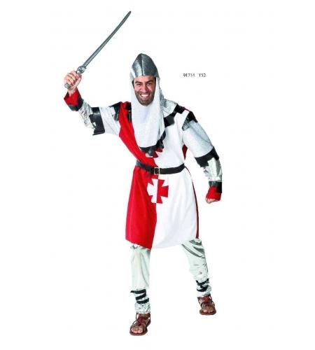 Disfraz medieval cruz hombre