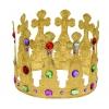 Metal big gemstones crown