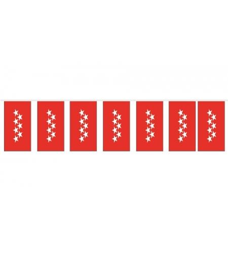 Bolsa bandera madrid de papel 15x20 cm.