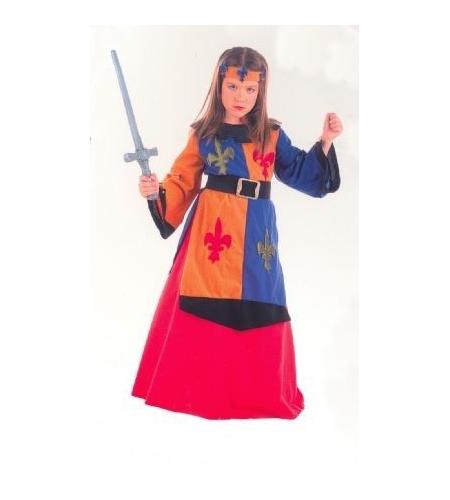 Medieval warrior lys girl costume