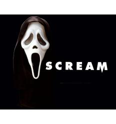 Fluorescent skull scream mask