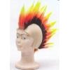 Punk bald-headed tricolor wig