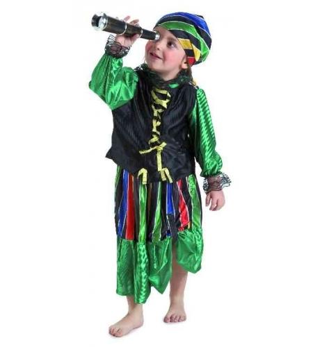 Disfraz pirata bucanera azul bebe