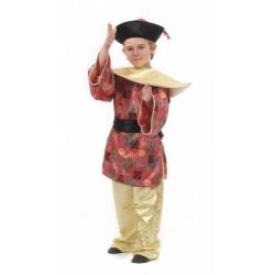 Fato chinês mandarim menino