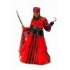 Pirate outfit menina listras vermelhas