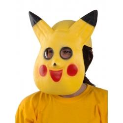 Careta de gato amarillo con casquete