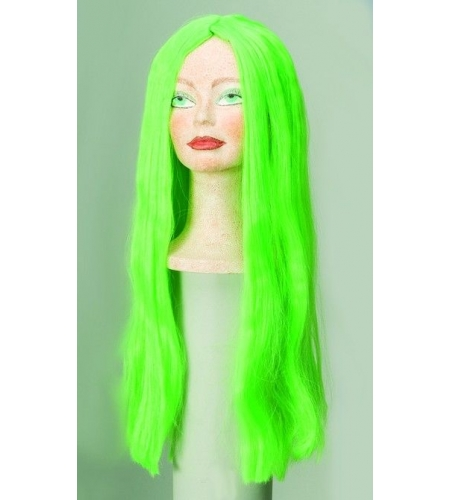 Colour wig with long smooth hair