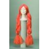 Wig with giant orange braids