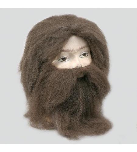 Halloween moustache fantaisie robe adh/ésif faux costume de barbe poule partie du visage perruque de cheveux du visage dr/ôle