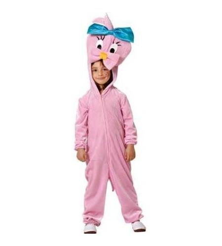 Disfraz canaria rosa infantil