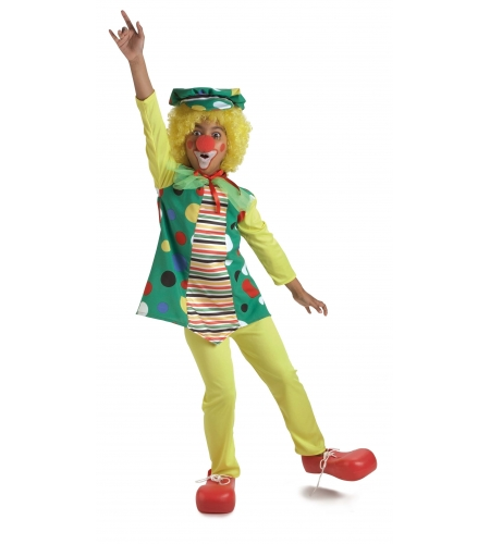 Clown girl polka dot costume