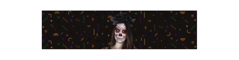 Halloween Make-Up und Dekoration